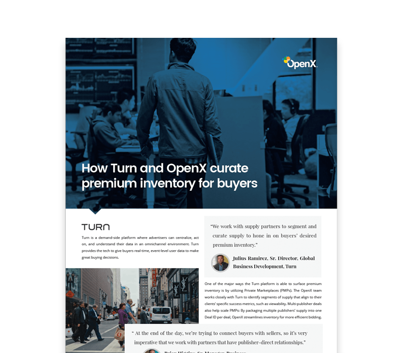 OX Turn Thumb - Turn + OpenX Private Marketplaces Case Study