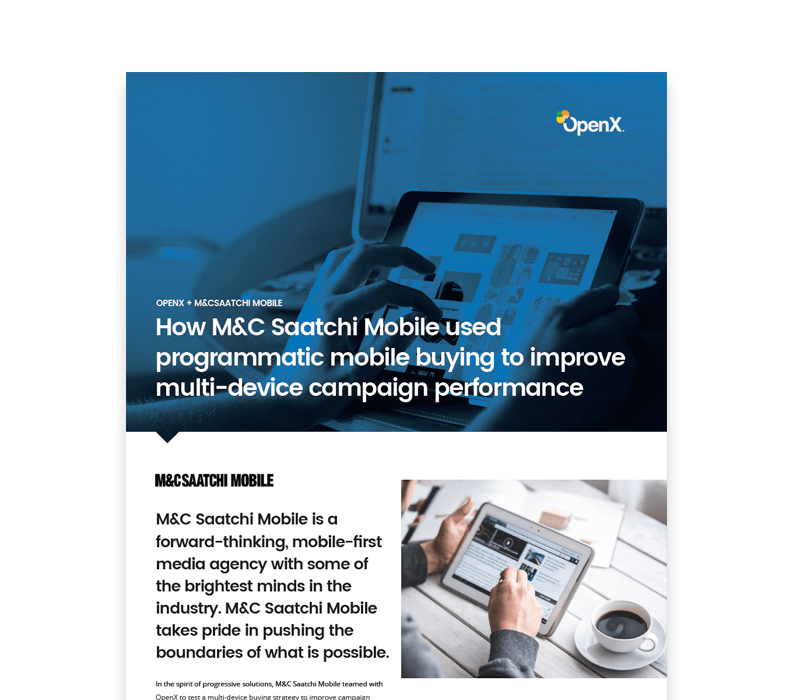 OX CaseStudies Thumbs MCSaatchiMobile 1 - How M&C Saatchi Mobile used programmatic mobile buying to improve multi-device campaign performance
