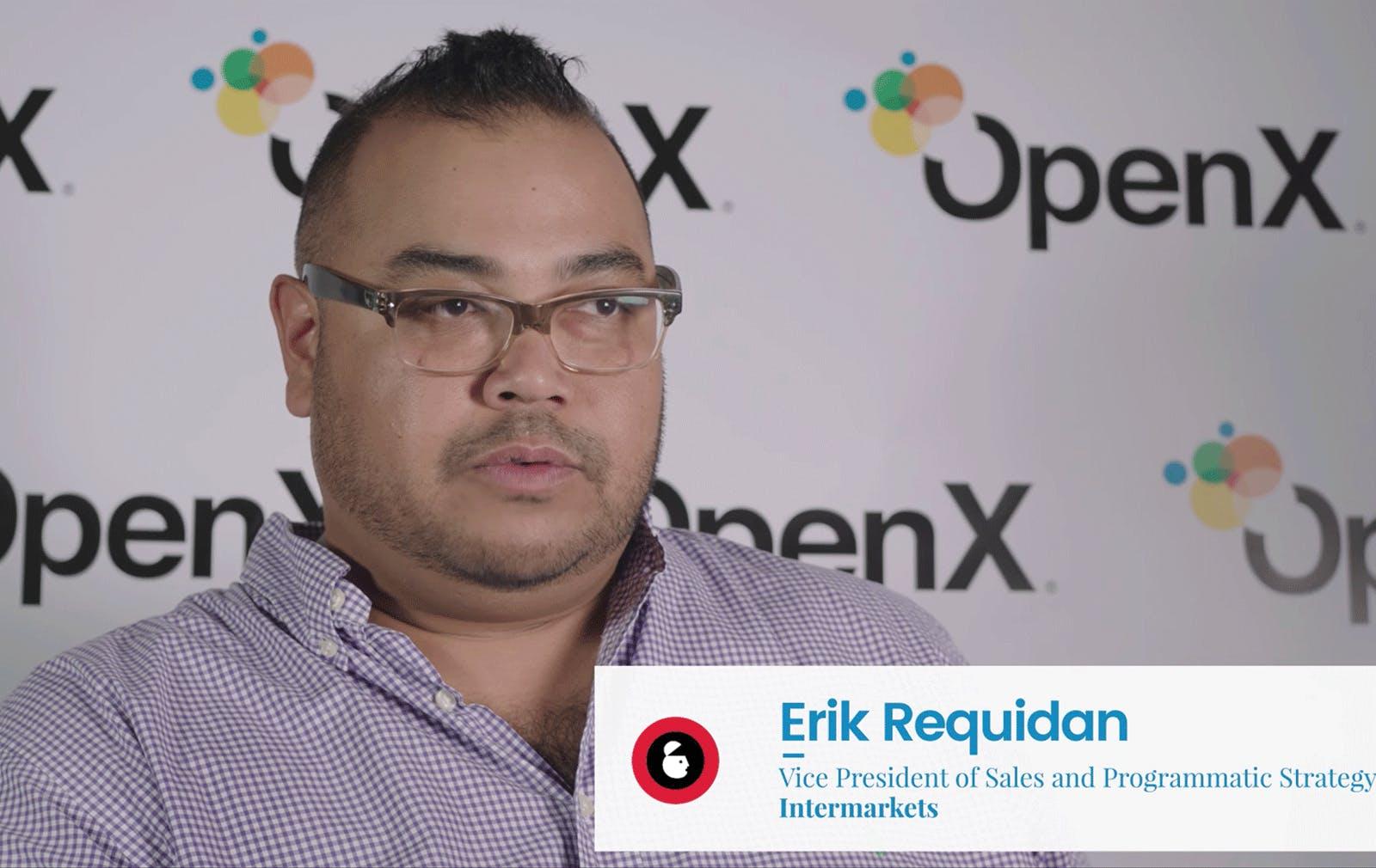 Intermarkets' Erik Requidan Backstage at Advertising Week NY 2017