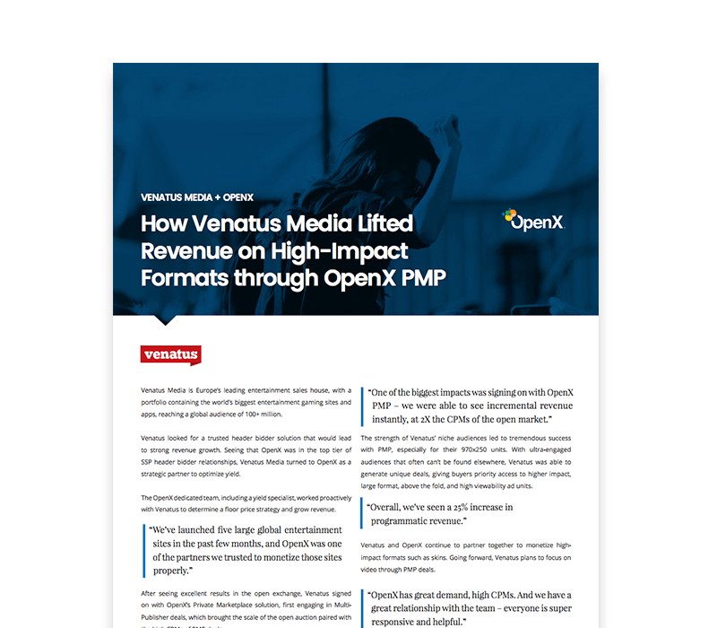OX CaseStudies Thumbs VenatusMedia - How Venatus Media Lifted Revenue on High-Impact Formats through OpenX PMP