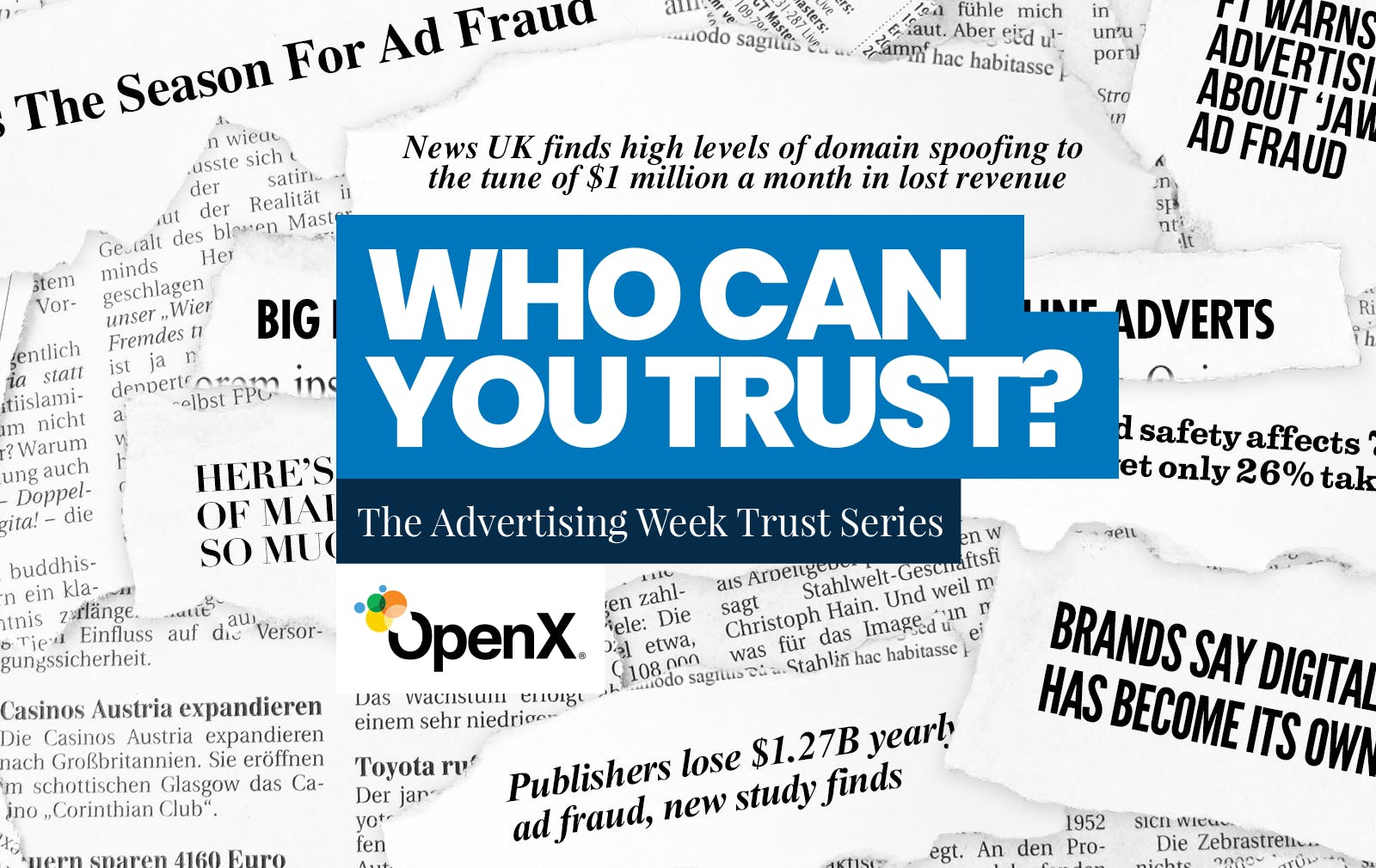 Dallas Lawrence, SVP at OpenX Discusses Trust at Advertising Week Europe