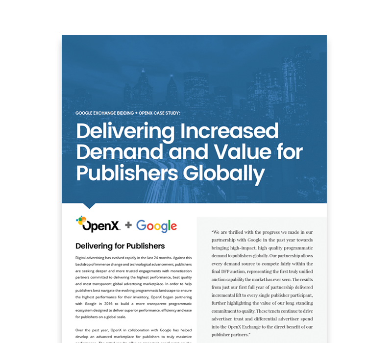 OX CaseStudies Thumbs GoogleEB - How OpenX & Google are Delivering Increased Demand & Value for Publishers Globally