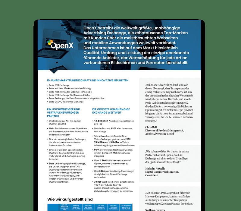 OX  Thumbs KeyStats DE - Über OpenX: Globaler Marktführer im Bereich Programmatic Advertising