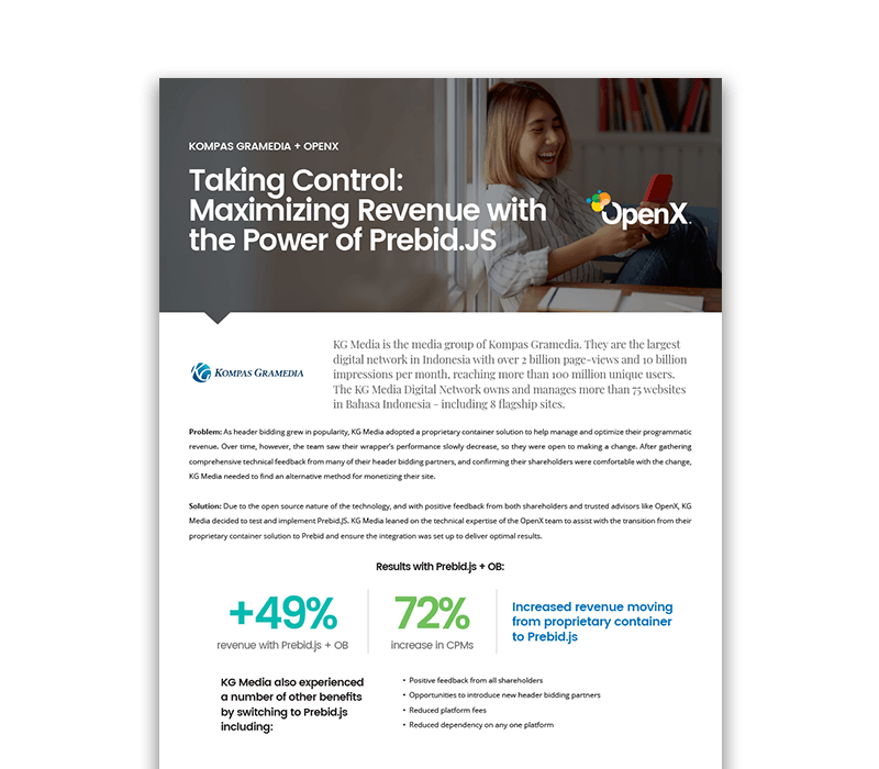 KG MediaCaseStudy Thumbnail - Taking Control: Maximizing Revenue with the Power of Prebid.js